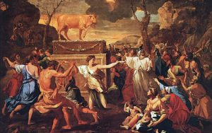 Nicolas Poussin - The Adoration of the Golden Calf - National Gallery, London, England