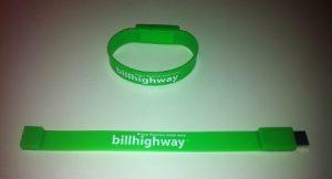 Bill Highway USB Bracelet